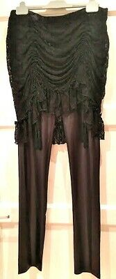 Devil Wear Gothic Faux Leather And Lace Skirted Leggings XL 14-16 • 24.50£