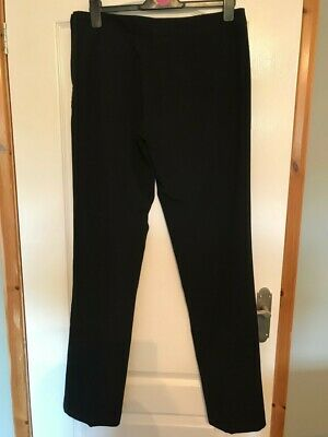 Ladies  Long Tall Sally  Black Straight Legged Trousers (Size 14) New With Tags • 7.20£