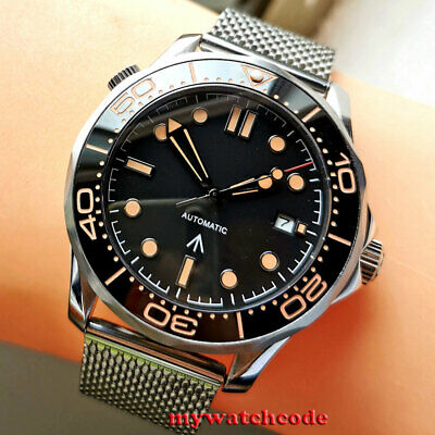 $ CDN98.54 • Buy 41mm Bliger Sterile Black Dial Sapphire Glass Automatic Mens Watch Mesh Belt