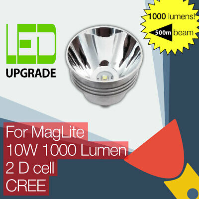 MagLite LED Conversion/upgrade Bulb 1000LM Torch/flashlight 2D Cell CREE • 34.95£