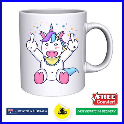 AU22.95 • Buy Funny Mugs Cute Rude Unicorn Middle Finger Naughty Novelty Coffee Tea Cup Gift