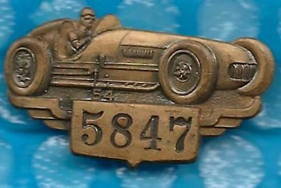 $132.95 • Buy ~1954 INDY (Indianapolis) 500 Bronze Pit Badge BILL VUKOVICH  WINS ~