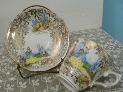 $3.99 • Buy Colclough Bone China   Cup And  Saucer Crinoline Lady