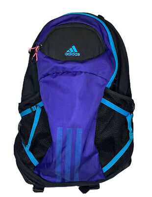 $19.99 • Buy ADIDAS Unisex Backpack School College Laptop Bag Load Spring Black Purple Blue