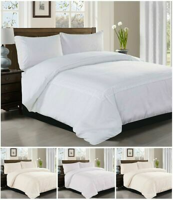 Duvet Cover With 2 Pillow Sham Bedding Set Quilt Lace Covers Double King Size UK • 29.99£