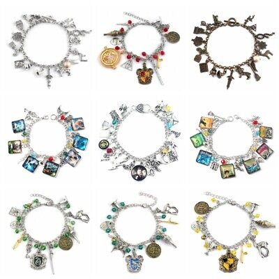 AU10.99 • Buy Harry Potter Silver/Gold Plated Charm Bracelet Perfect Gift AUStock