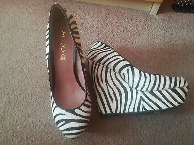 £30 • Buy STUNNING Aldo Zebra Print Wedge Shoes Size 6 New Without Tags. Great Price.