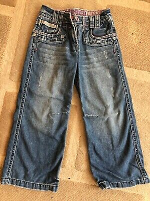 £7.50 • Buy NEXT - Girls Denim Jeans - Age 7 Height 122cm - 'Slouch'