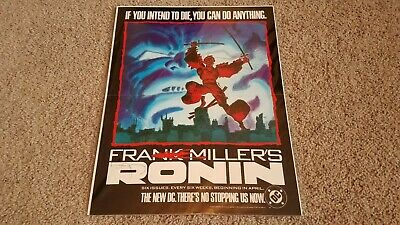 Ronin Promotional Poster By Frank Miller - Signed/Autographed • 88.27£