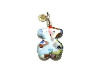 $75 • Buy TOUS Bear Pendant, Multi Colored Murano Glass, Sterling Silver Bale, Charm