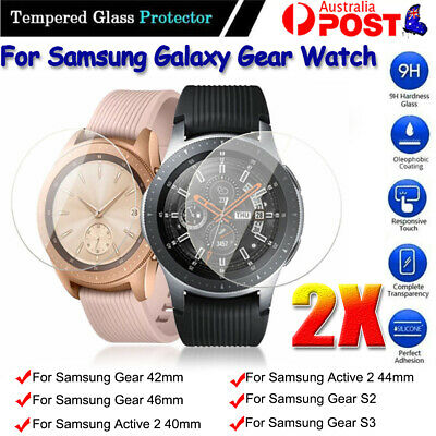 AU3.79 • Buy 2x Samsung Galaxy Gear Watch 46/42mm S2 S3 Tempered Glass Screen Protector