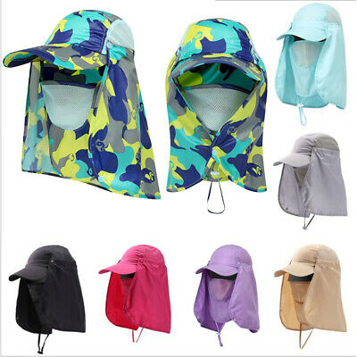 $10.49 • Buy 360° Outdoor Protection Face Flap Neck Cover Sun Hat Cap Fishing Camping Hiking