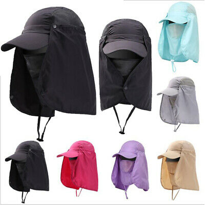 $9.97 • Buy Hiking Fishing Hat Outdoor Sport Sun UV Protection Neck Face Flap  Cover Cap USA