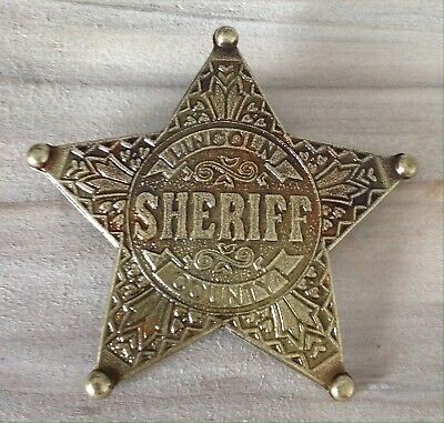 Gold Lincoln County Sheriff Badge / Shield • 8.99£