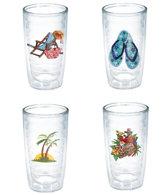 $49.79 • Buy Tervis Beach Life 16 Oz Tumblers Set Of 4  Hot Cold Insulated New USA Free Ship