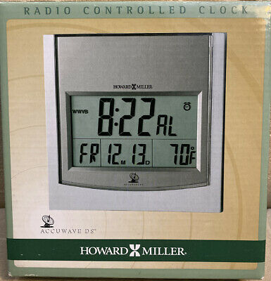 £25.39 • Buy Howard Miller 625-235 Techtime I Radio-Controlled LCD Wall/Table Alarm Clock