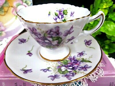 $35.95 • Buy Occupied Japan Tea Cup And Saucer Spring Violets TEACUP Wide Mouth Rossetti