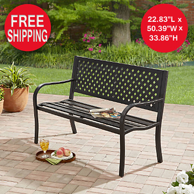 $90 • Buy Outdoor Bench Seat Garden Park Porch Patio Chair Metal Furniture Yard Backyard