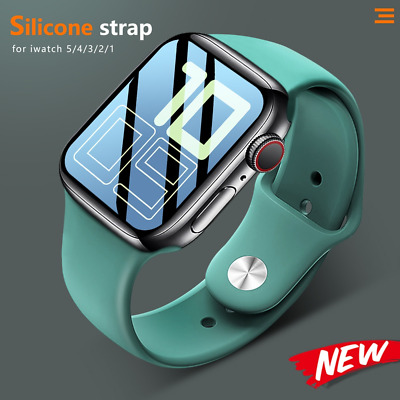 $ CDN4.10 • Buy Watch Silicone Sports I Watch Band Strap For Apple Watch Series 5 4 3 2
