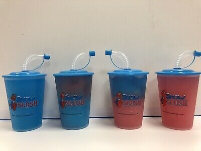 Clearance Slush Yard Cup 16oz  X 240 Cups With Lid And Straw ,novelty Slush Cup • 28£