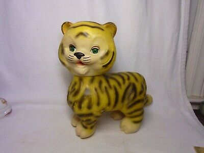 $39.99 • Buy Vintage The Edward Mobley Co. Rubber Squeaky Sleepy Eyes Tiger 1965