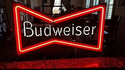 $ CDN645.18 • Buy Vintage Budweiser Bowtie Beer Neon Sign