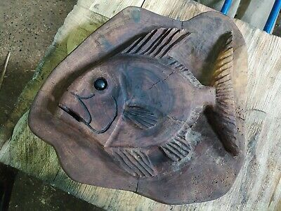 Sussex Chainsaw Carving Elm Fish Gift Idea Wooden Garden Or Home Sculpture • 45£