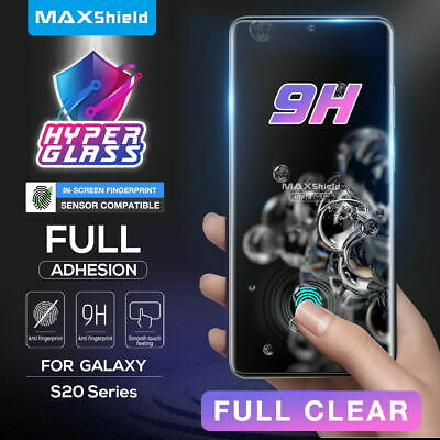 AU10.99 • Buy MAXSHIELD Galaxy S20/S21 Plus Ultra Screen Protector Tempered FullCover UV Glass