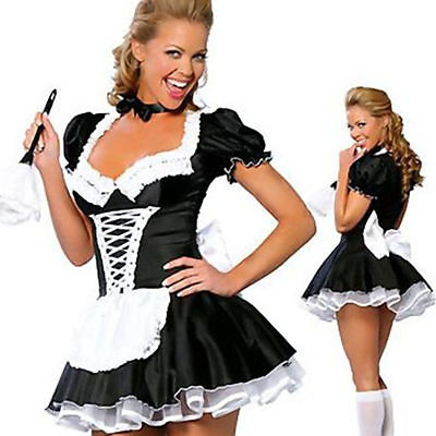 $18.99 • Buy Hot Large Sexy Women Costume Cosplay French Maid Lingerie Outfit Dress Halloween