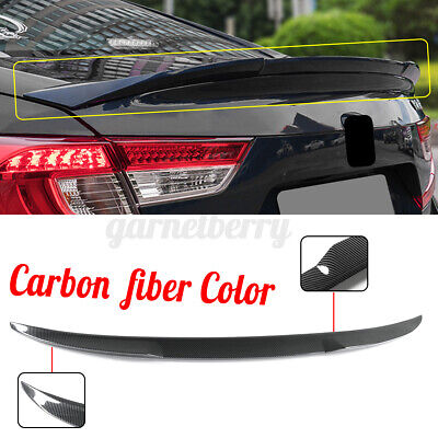 $102.39 • Buy Carbon Fiber Color Rear Trunk Lip Spoiler Wing For Honda Accord 18-19 JDM Style