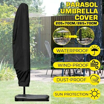 AU17.89 • Buy Large Parasol Banana Cantilever Umbrella Cover Patio Garden Outdoor Weatherproof