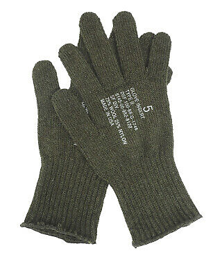 $10.99 • Buy US GI Olive Drab Wool Glove Liner Inserts Military Army Type II Inner Gloves