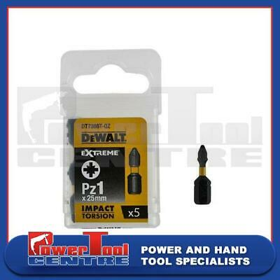 Dewalt DT7386T 25mm Magnetic Impact Torsion Screwdriver Bits PZ1 (Pack Of 5) • 4.99£