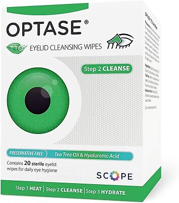 £8.97 • Buy Scope OPTASE TTO Eyelid Wipes Optase Tea Tree Oil RECOMMENDED BY OPTICIANS