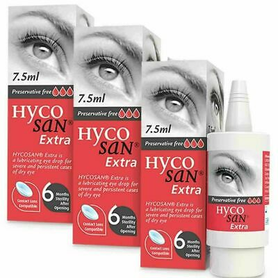 A MULTIPACK 3x Hycosan Extra DRY Eye Drops RECOMMENDED BY OPTICIANS • 24.99£