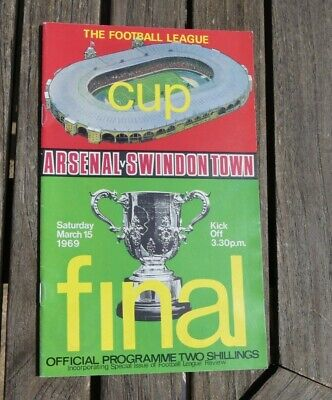 1969 League Cup Final Arsenal V Swindon Town Official Programme • 2.49£