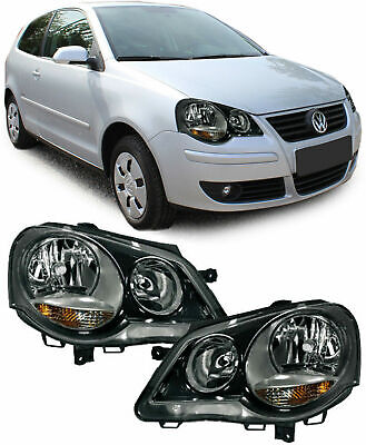 AU305.14 • Buy GTI Cup LOOK Headlights SET In Black Finish For VW Polo 9N3 05-09