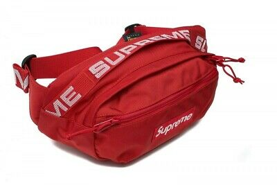 $ CDN247.41 • Buy Supreme SS18 Red Waist Bag Fanny Pack Cordura Fabric