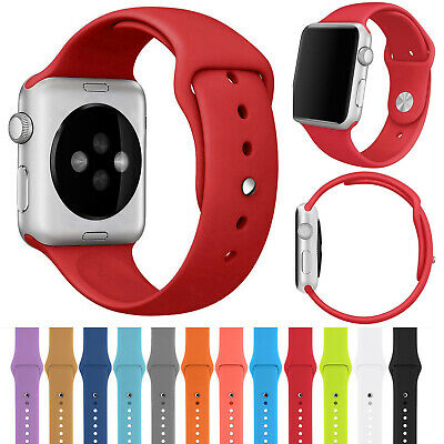$ CDN6.42 • Buy For Apple Watch Series 5 4 3 2 1 Replacement Silicone Band Strap Sport Bracelet