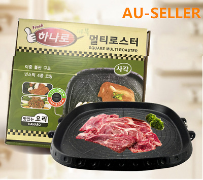 AU37.80 • Buy Korean Nonstick BBQ Grill Pan For Stovetop, Barbecue Portable Hot Plate