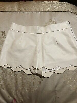 $15 • Buy White Fau. Leather Shorts Size Small