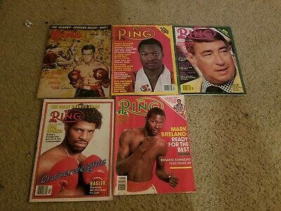 $5.99 • Buy The Ring Vintage Boxing Magazine Lot Of 5, 1968, 1979, 1980, 1982, 1987.