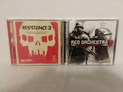 £21.58 • Buy RESISTANCE 3 + RED ORCHESTRA 2 - 2 VIDEO GAME SOUNDTRACK CDs - FREE SHIPPING