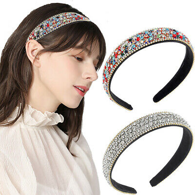 $ CDN6.13 • Buy Women's Crystal Headband Colorful Hairband Hair Crown Hoop Band Accessories Prom