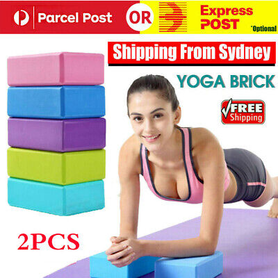 AU16.39 • Buy VIVA 2Pcs Yoga Block Brick Foaming Home Exercise Practice Fitness Gym Sport Tool