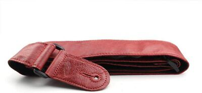 $ CDN34.48 • Buy Genuine Soft Red Classic Vintage Style Leather Electirc Acoustic Guitar Strap