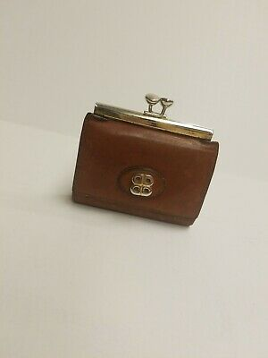 $5.20 • Buy  Vintage LADY BOSCA Brown Leather Women's Wallet Coin Purse