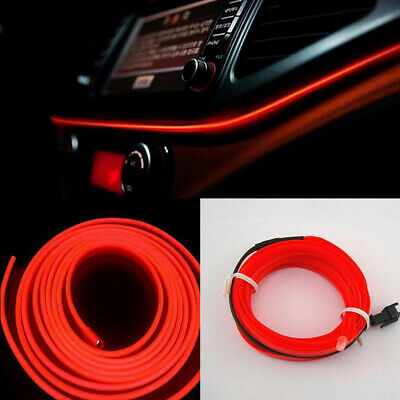 $6.99 • Buy 2M Red LED Car Interior Decor Atmosphere Wire Strip Light Lamp Car Accessories