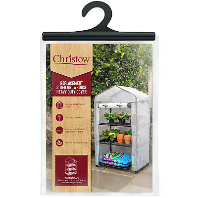 Greenhouse Cover Replacement 3 Tier Reinforced PE Heavy Duty H125cm Christow • 14.99£