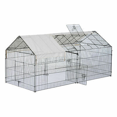 $20.99 • Buy Outdoor 87  Large Dog Kennel Crate Pet Enclosure Playpen Run Cage House W/Cover@